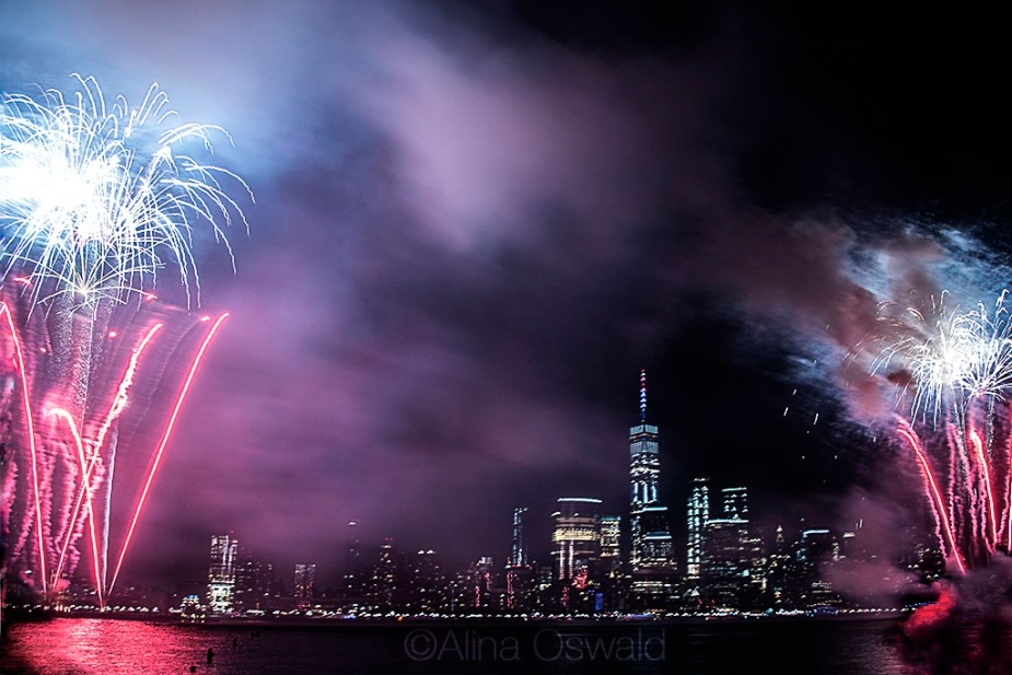 Freedom Tower and July 4th Fireworks 2018. Photo by Alina Oswald.