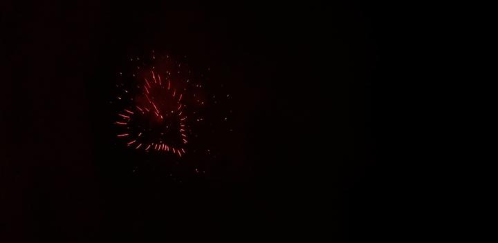 Heartshape fireworks. Photo by Alina Oswald.