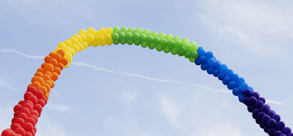 Rainbow Balloons for JC Pride Fest. ©Alina Oswald.