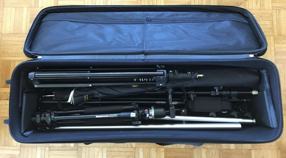 Godox CB-01 rolling bag for photo studio equipment. photo by Alina Oswald.