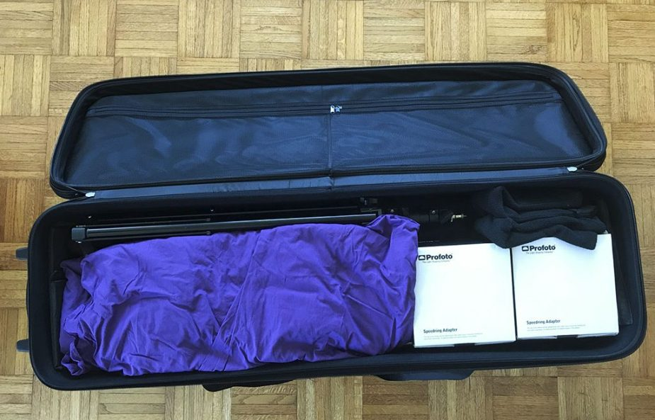 Godox CB-01 wheeled light gear bag. Rolling bag for photo studio equipment. Photo by Alina Oswald.