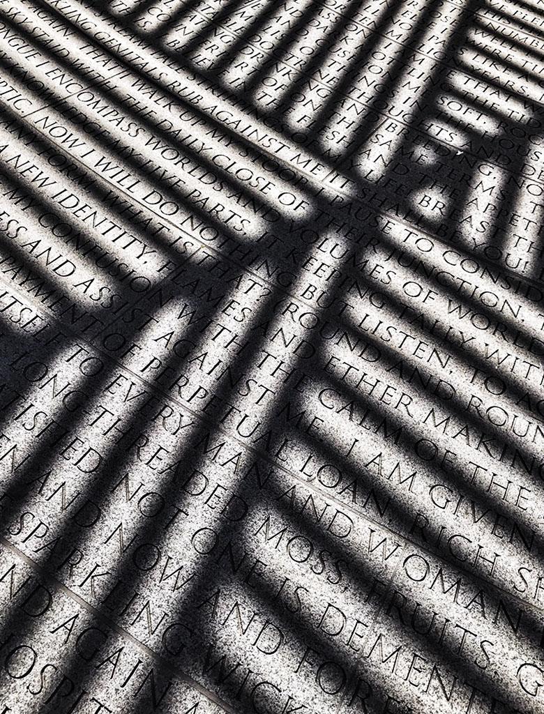 NYC AIDS Memorial. Shadows. Photo by Alina Oswald.