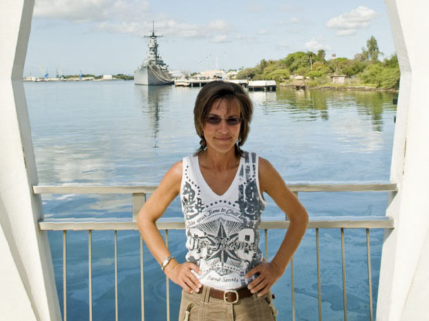 At the Arizona Memorial, Pearl Harbor, Hawaii.