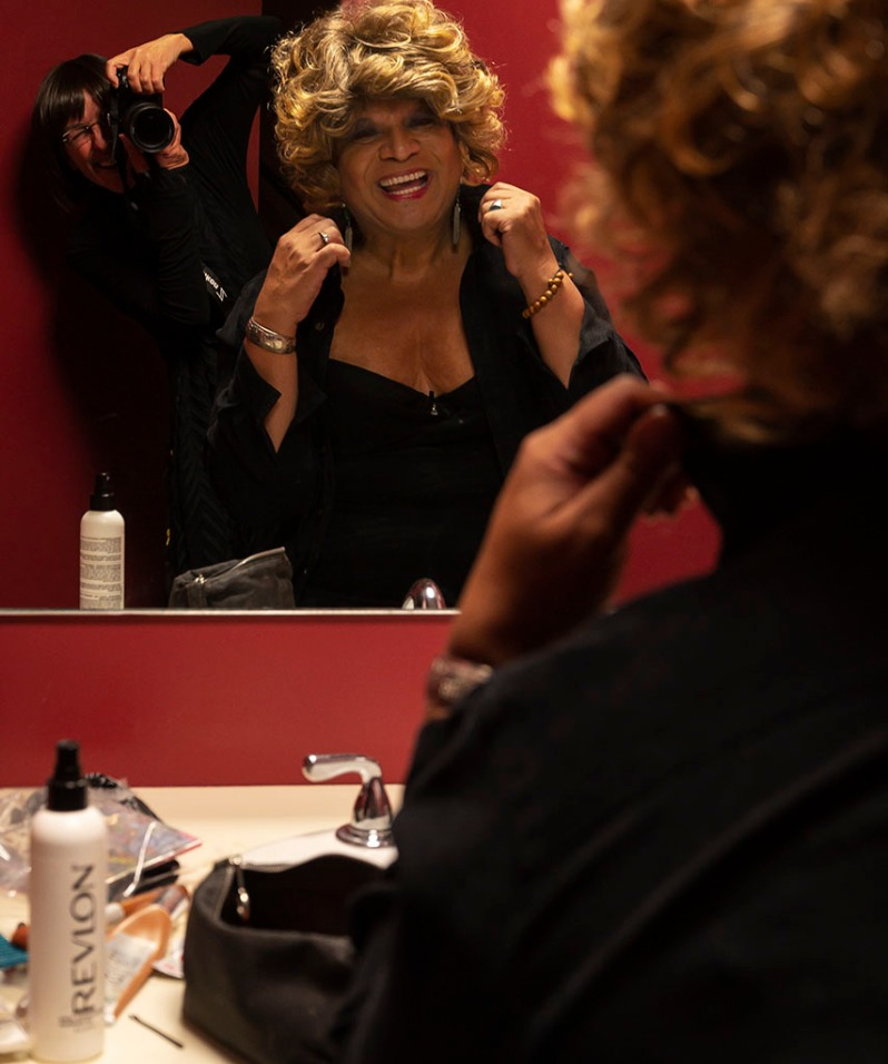 In NYC at MNN photographing actor and LGBTQ activist Ron B in her dressing room. #bts photography by Alina Oswald.