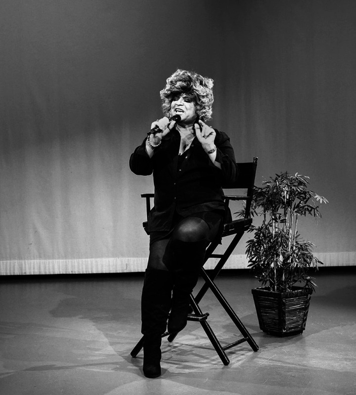 Actor, LGBTQ activist and celebrity host Ron B in NYC at MNN on the set of Ron B's show, No Boundaries, Up Close and Personal. Photo by Alina Oswald. All Rights Reserved.