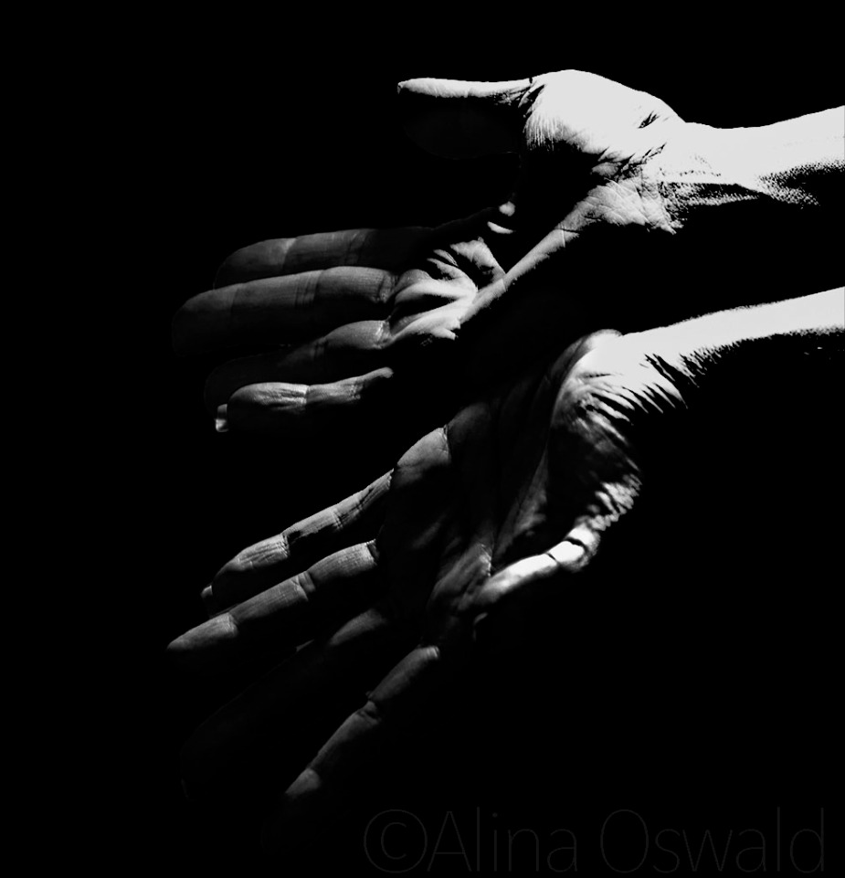 Hands - Self-Portraits in Black-and-White. Photo by Alina Oswald. All Rights Reserved.