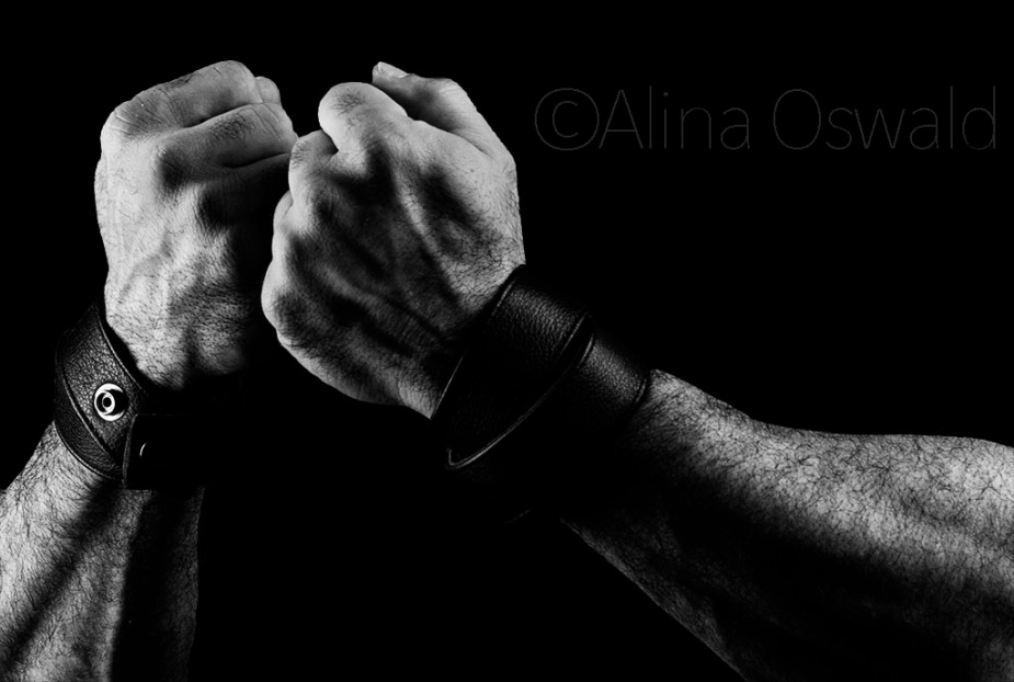 Fight Back. B&W hand portrait by Alina Oswald.