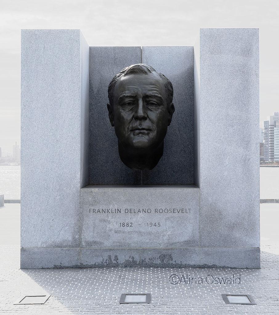 Franklin Delano Roosevelt monument on Roosevelt Island, NYC. Photo by Alina Oswald.