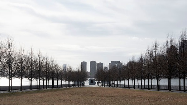 Four Freedoms Park on Roosevelt Island, NYC. Photo by Alina Oswald.