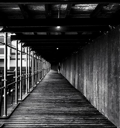 Walk Alone during covid-19. ©Alina Oswald.