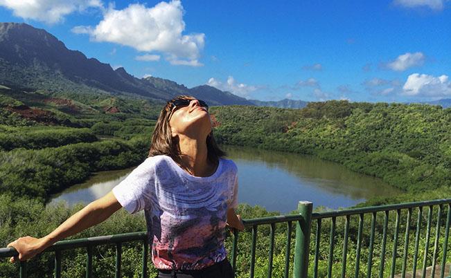 Enjoying the Hawaii air. #tbt