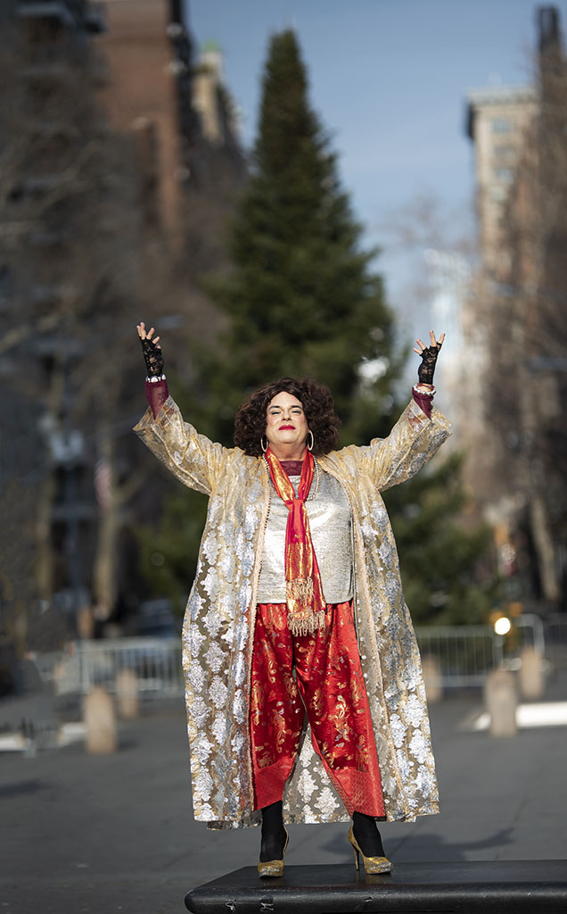 Award-winning performing artist and HIV/AIDS advocate, Rev. Yolanda, photographed and interviewed in NYC's Washington Square Park, for A&U Magazine—America's AIDS Magazine. ©Alina Oswald. All Rights Reserved.