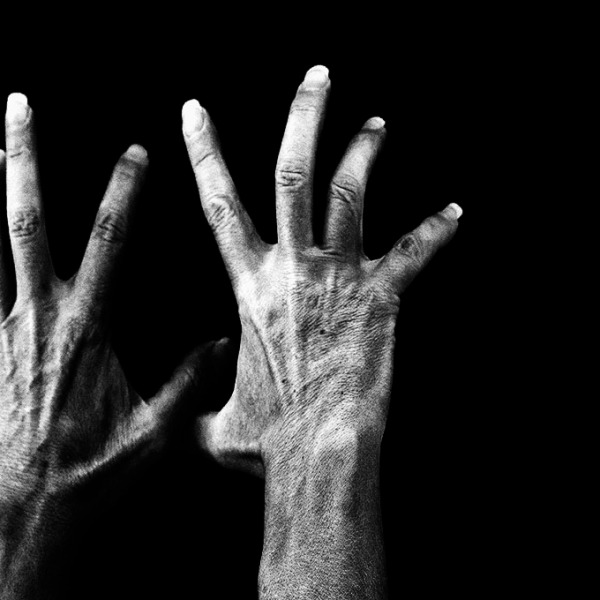 """No Surrender."" Hand self-portraits in black and white. ©Alina Oswald."