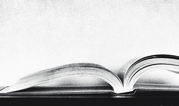 Open Book. B&W. ©Alina Oswald.