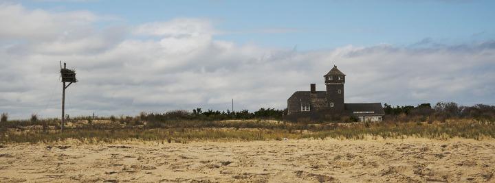 Photographing Sandy Hook Beach,NJ