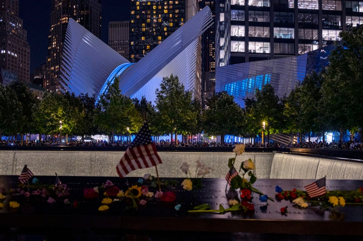 9/11 Memorial and Museum, and the Oculus on September 11, 2021. ©Alina Oswald. All Rights Reserved.