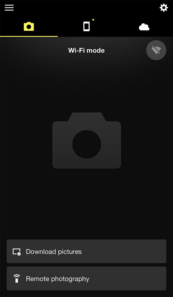 SnapBridge app for remote Nikon camera accessing.